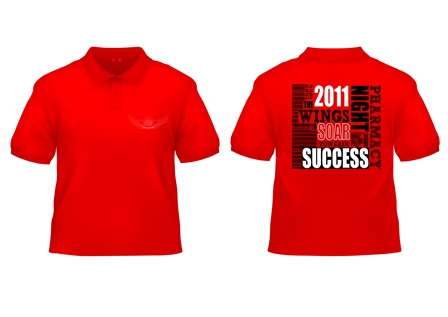 Design Tshirt PharmNite 2011 (red)